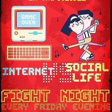 Fight Night - Internet vs Social Life by valsymot