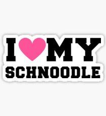 I Love My Schnoodle Dog Breeds Gift Sticker