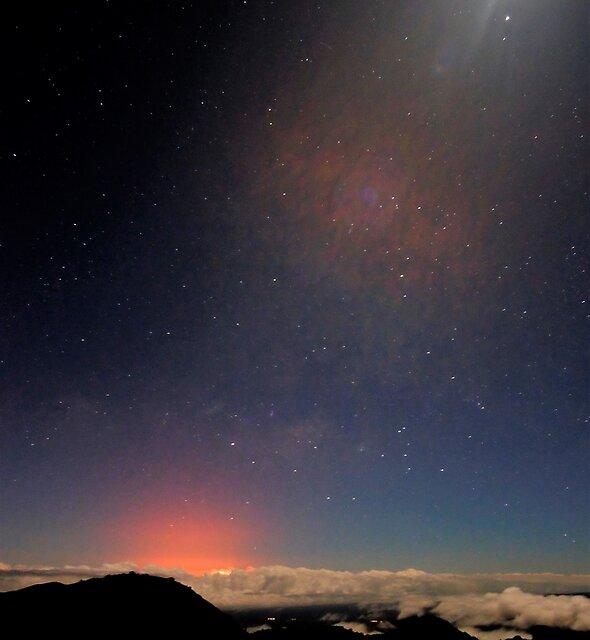 Moon, Stars, Lava Glow by Ran Richards