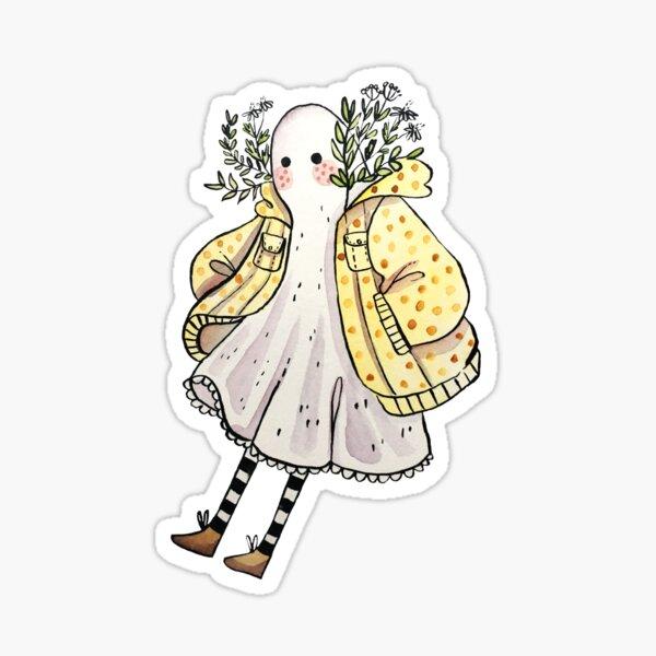 Little Ghostie in Raincoat Sticker