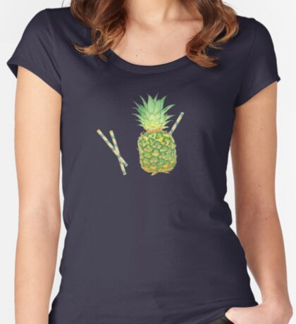 pineapple juice Fitted Scoop T-Shirt