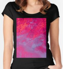 Recycled Plastic Lighting Experiment Women's Fitted Scoop T-Shirt