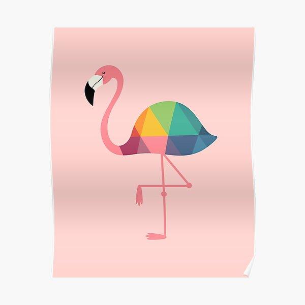 Rainbow Flamingo Poster
