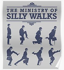 The Ministry of Silly Walks Poster
