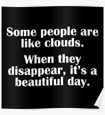 People Clouds Poster