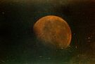 grungy orange moon  by Juilee  Pryor