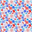 Red, White and Blue Stars by karapeters