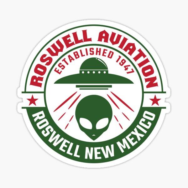 Roswell New Mexico Alien UFO Sticker