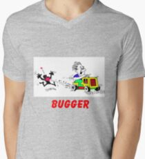 Rodney rides the mower Mens V-Neck T-Shirt