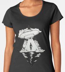 Alien (black and white) Women's Premium T-Shirt