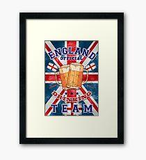 England Drinking Team Framed Print