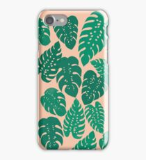 Cheese Plant - Trendy Hipster art for dorm decor, home decor, ferns, foliage, plants iPhone Case/Skin
