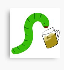 Danger Noodle drinking Beer Canvas Print