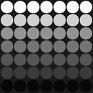 Mod Pop Circles in black and white tones by dbvisualarts