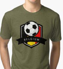 Soccer flag Belgium Tri-blend T-Shirt