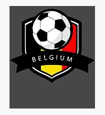 Soccer flag Belgium Photographic Print