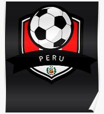 Soccer flag Peru Poster