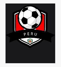 Soccer flag Peru Photographic Print