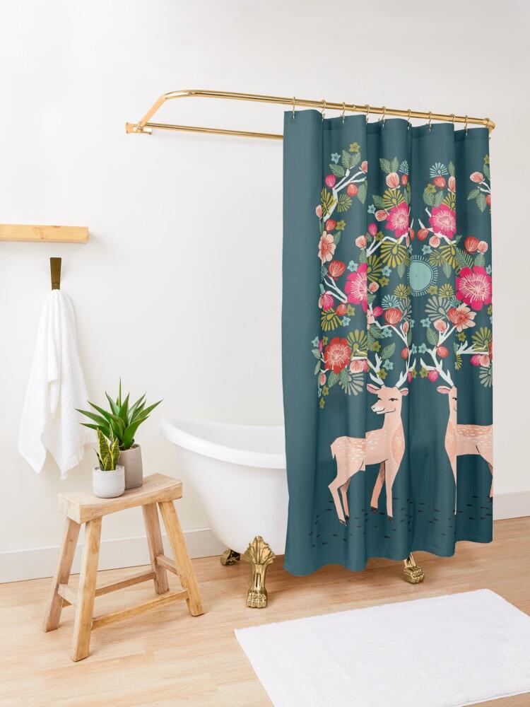 Alternate view of Doe a Deer Shower Curtain