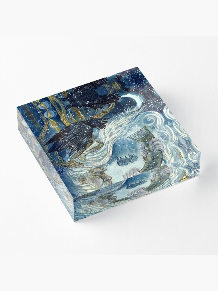 Alternate view of Winter spirit. Acrylic Block
