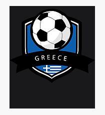 Soccer flag Greece Photographic Print
