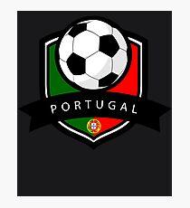 Soccer flag Portugal Photographic Print