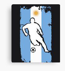 Argentina Flag Soccer Player Canvas Print