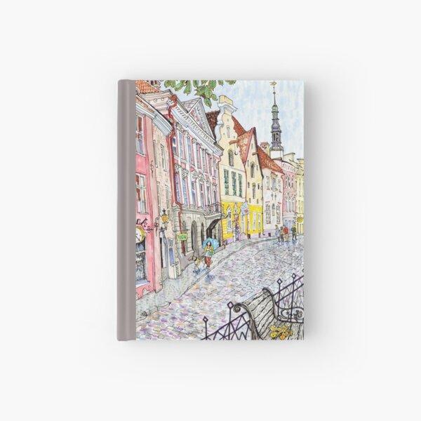 old Tallinn street  Hardcover Journal
