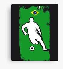 Brazil Flag Soccer Player Canvas Print