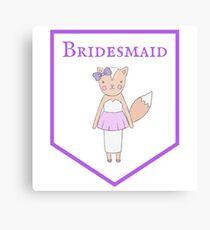 Bridesmaid Bachelorette Party Hen Night Canvas Print