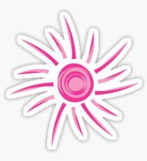 Pink Sun Outline  Sticker