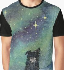All is calm, Border Collie dog, star light scene Graphic T-Shirt