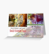 M-Mission, Laureen Warrington, Solo Exhibition Banner Greeting Card