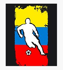 Colombia Flag Soccer Player Photographic Print