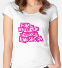 For the Honour of Greyskull Women's Fitted Scoop T-Shirt