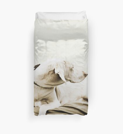 Who's that over there? Duvet Cover