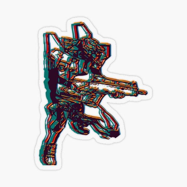 Evangelion Unit-02 Transparent Sticker