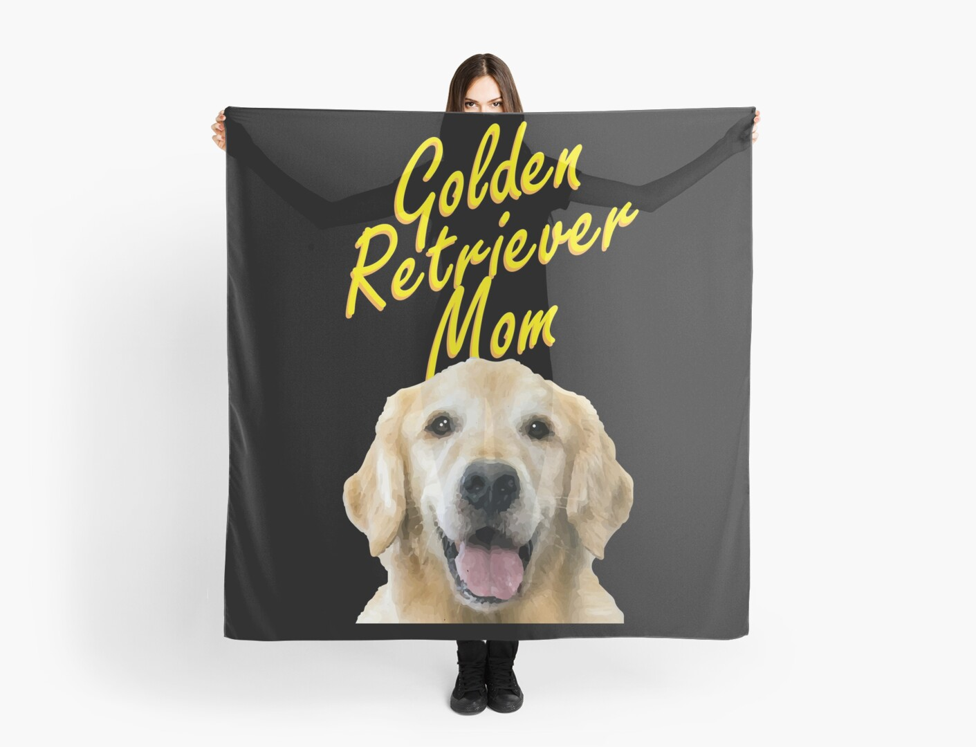 Golden Retriever Mom Gift For Dog Owners Scarves By Trndsttr