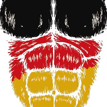 Germany flag Hulk muscles by luibeton
