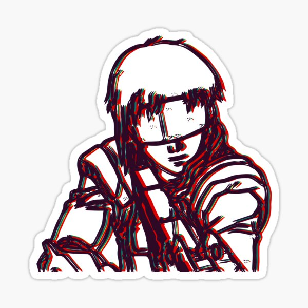 Kusanagi-Ghost In The Shell Glossy Sticker