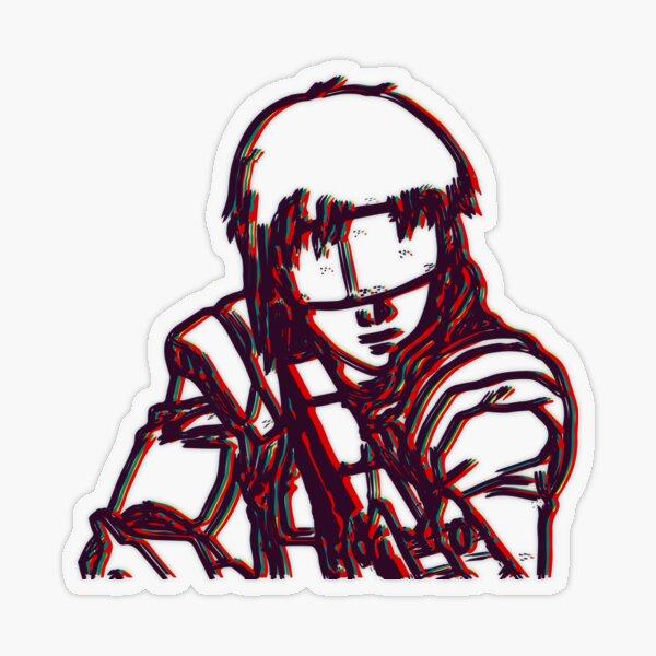 Kusanagi-Ghost In The Shell Transparent Sticker