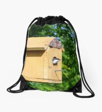 Bird Peek-a-Boo Drawstring Bag