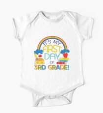 First Day Of Third Grade  Back To School  One Piece - Short Sleeve