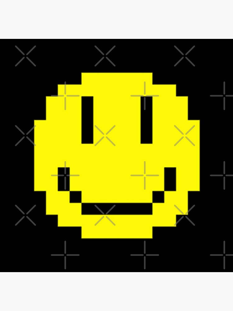Pixel Smiley Face Tote Bag