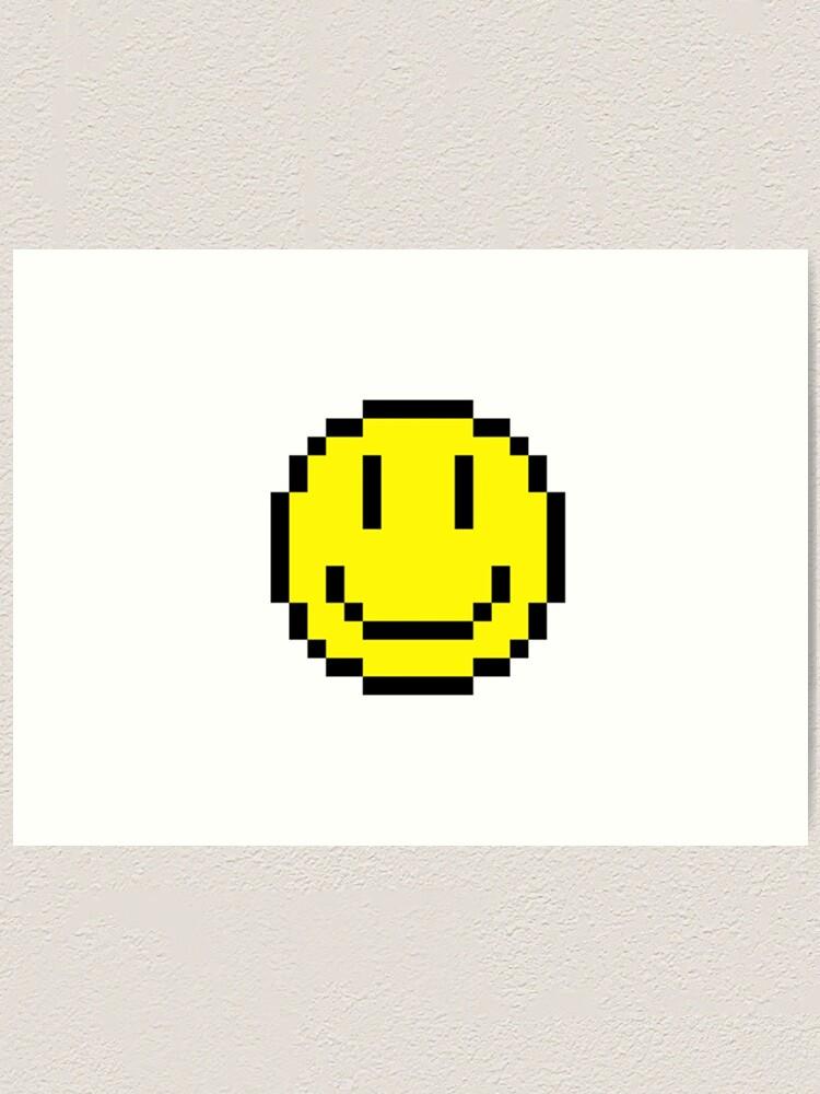 Pixel Smiley Face Art Print