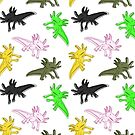 Retro Axolotls by Kristina S