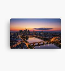 Frankfurt Skyline- Sunset Time Canvas Print