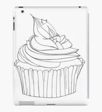 Cupcake Line Drawing iPad Case/Skin