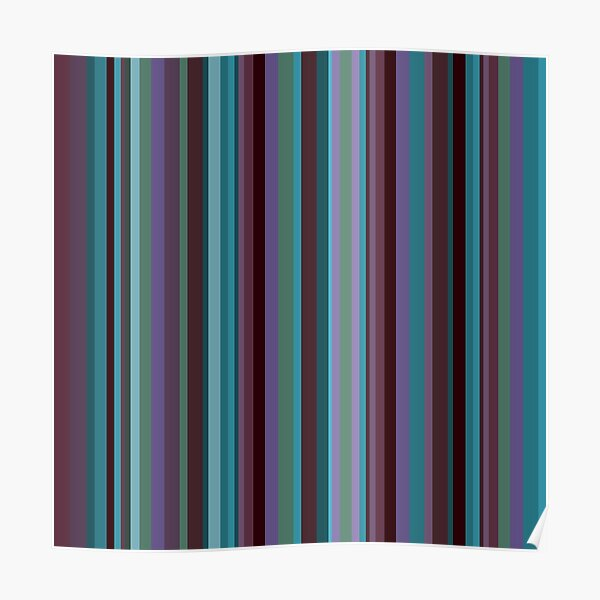 Orchid stripe Poster