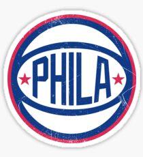 Phila retro Ball 1 Sticker